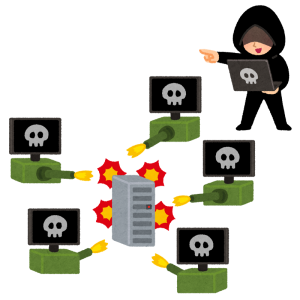 DDoS攻撃のイラスト
